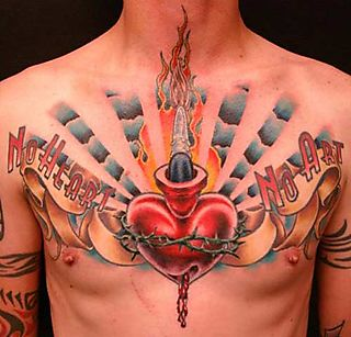 Heart Tattoos For Men On Chest