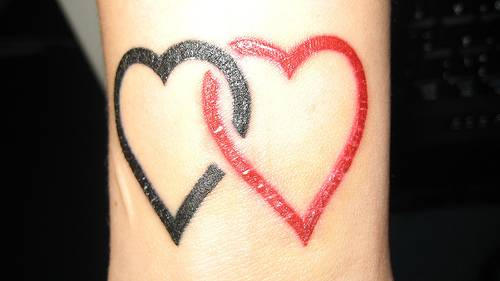 Joined Heart Tattoos