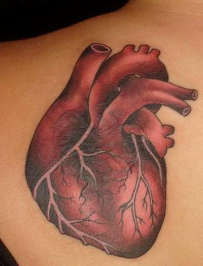 Real heart tattoo design for men and women