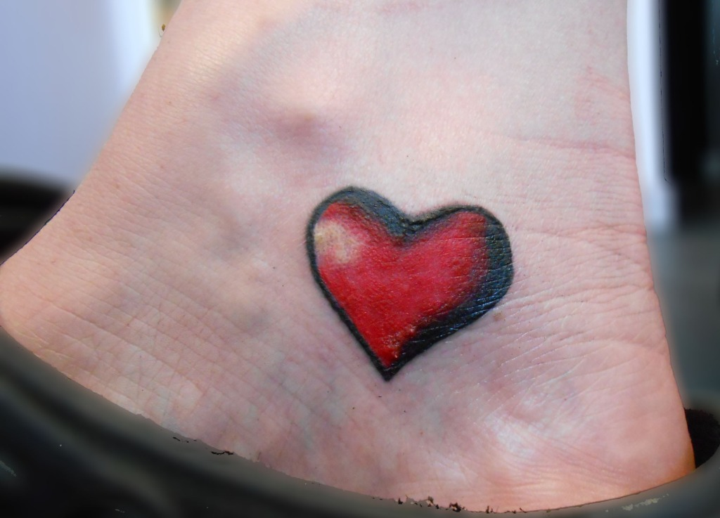 Red Heart Tattoo Design