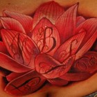 Big Lotus Flower Tattoo