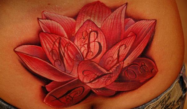 Big Lotus Flower Tattoo