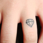 Diamond Ring Tattoo Design