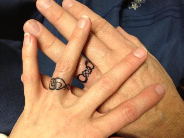 Nautical wedding bands tattoo designs