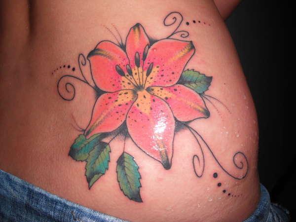 Pink Lily Tattoo