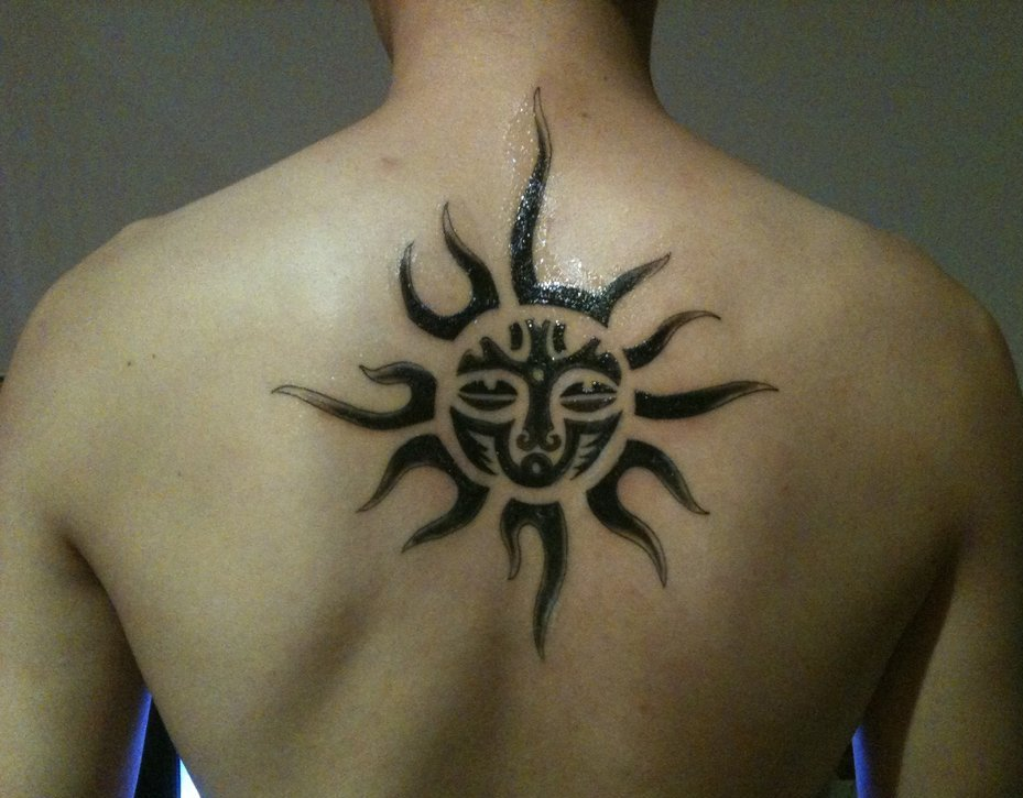 Aztec Sun Tattoo for men in 2015