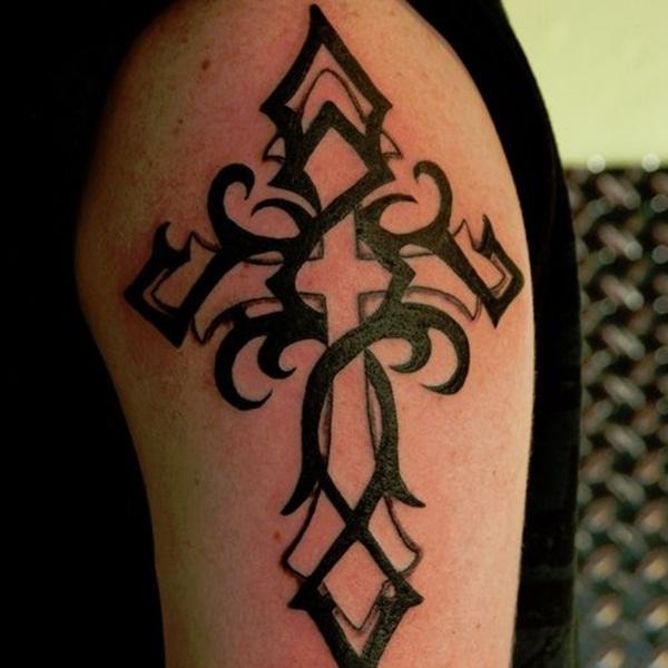 Cross Tattoos for Men (21)
