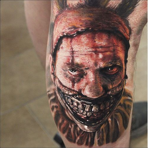 Scary Clown Tattoo Designs
