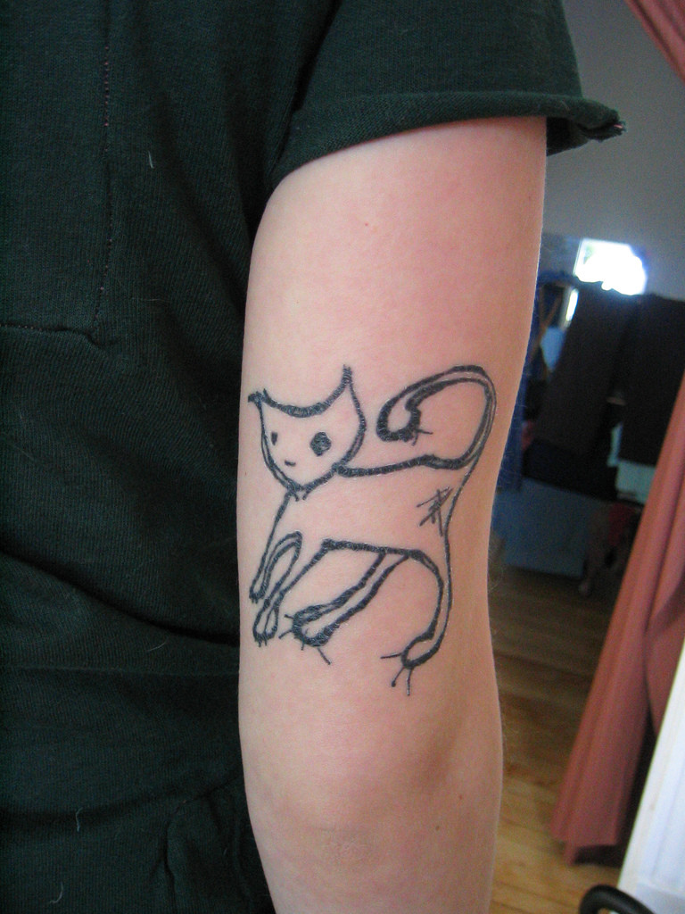 Cat Tattoo Design.12