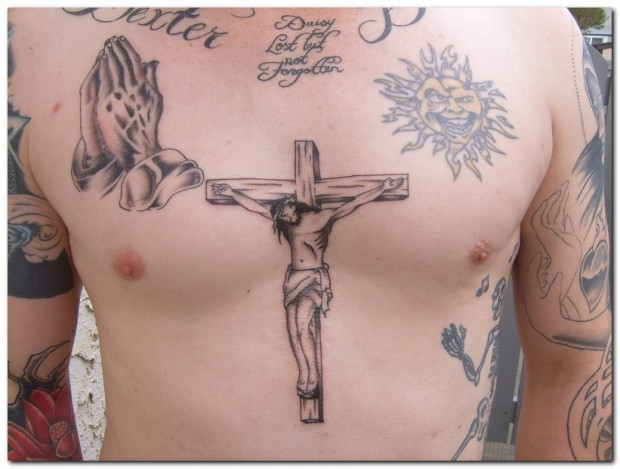 Cross Tattoos for Men.111