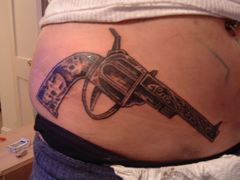 Gun Tattoo Designs-21