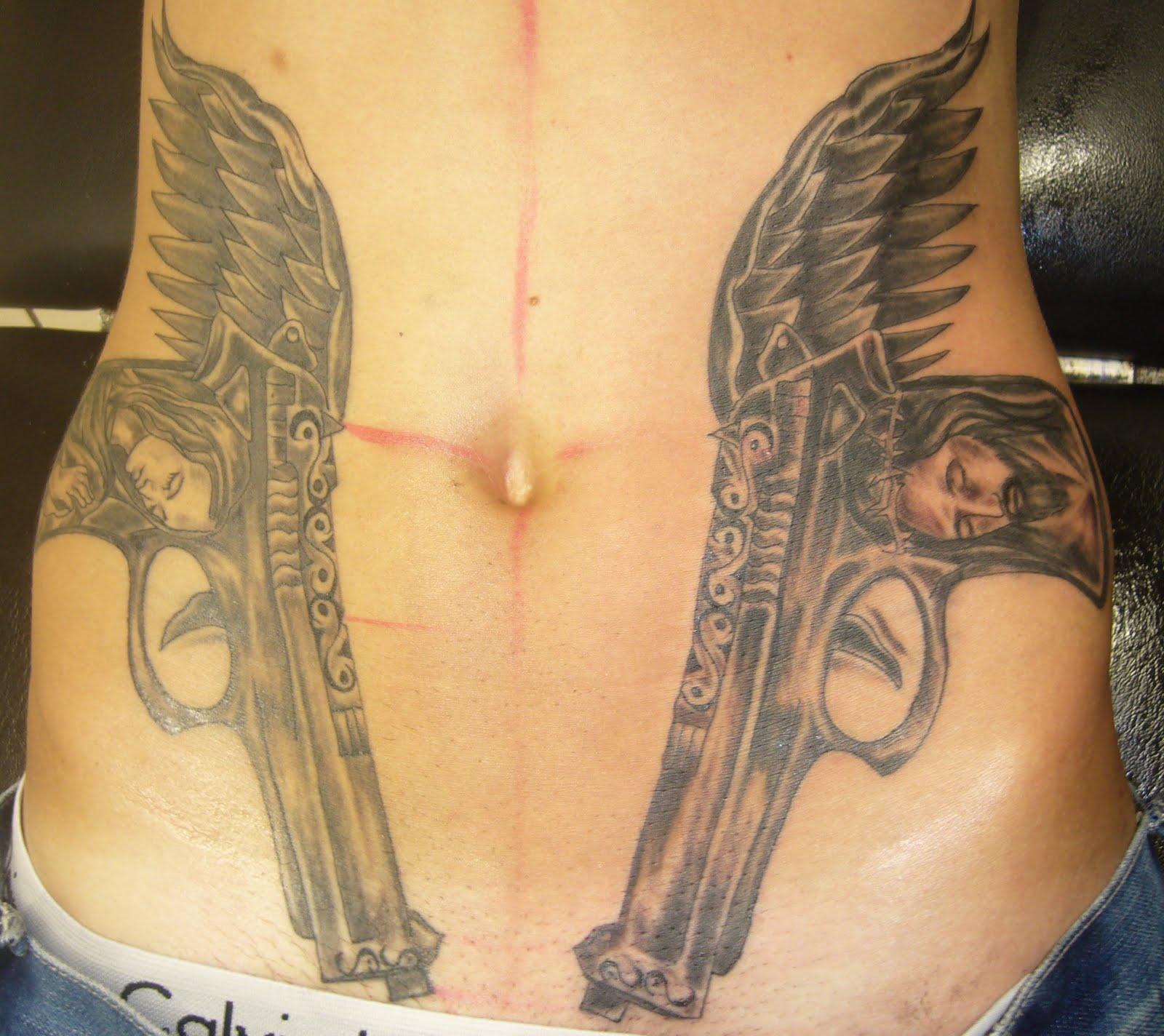 8e20140fc 45 Amazing Gun Tattoo Designs