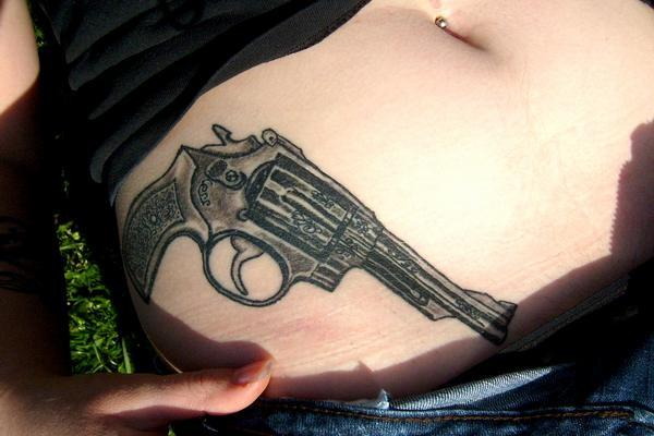 Gun Tattoo Designs-35