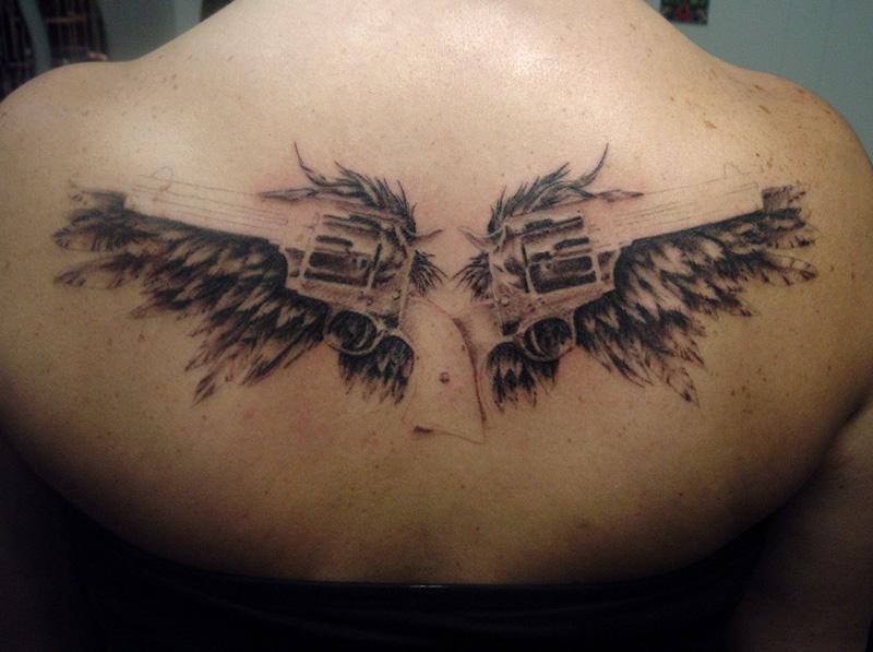 Gun Tattoo Designs-8