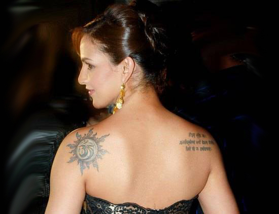Indian celeb Sanskrit Tattoo Designs
