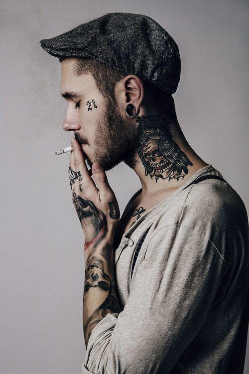face tattoo for men