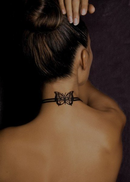 959b24862 Top 70 Beautiful Neck Tattoos For Girls in 2016