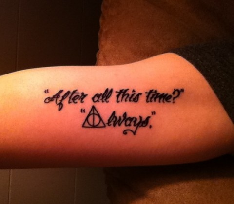 Harry Potter Tattoos.29