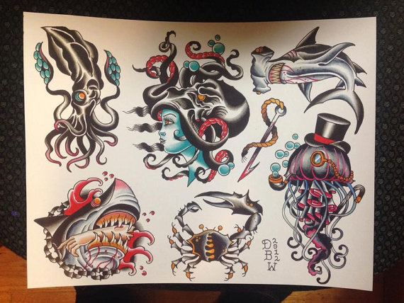 Nautical Tattoo Designs.22