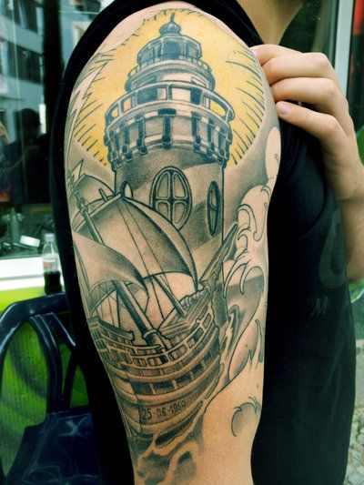 Nautical Tattoo Designs.50