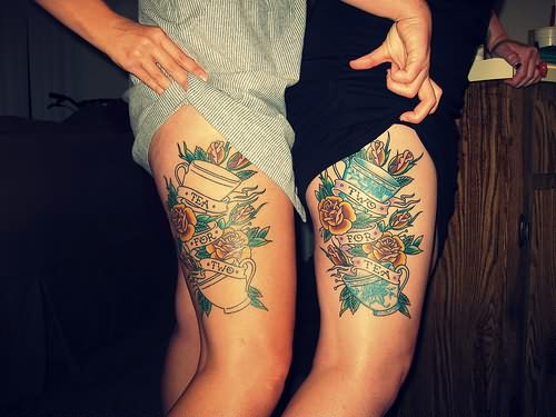 Thigh Tattoos for Women.104