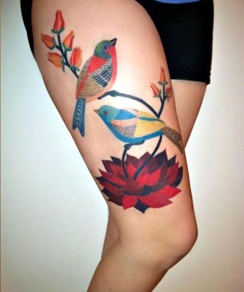 Thigh Tattoos for Women.105