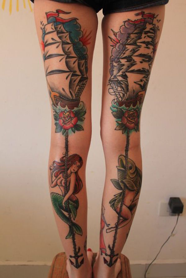 Thigh Tattoos for Women.26