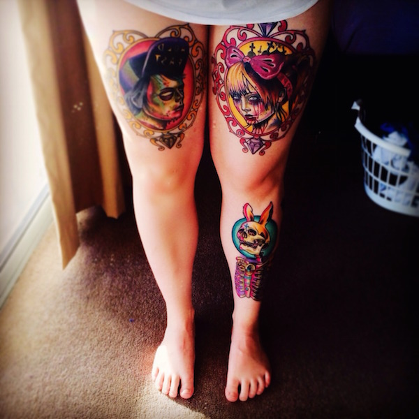 Thigh Tattoos for Women.30