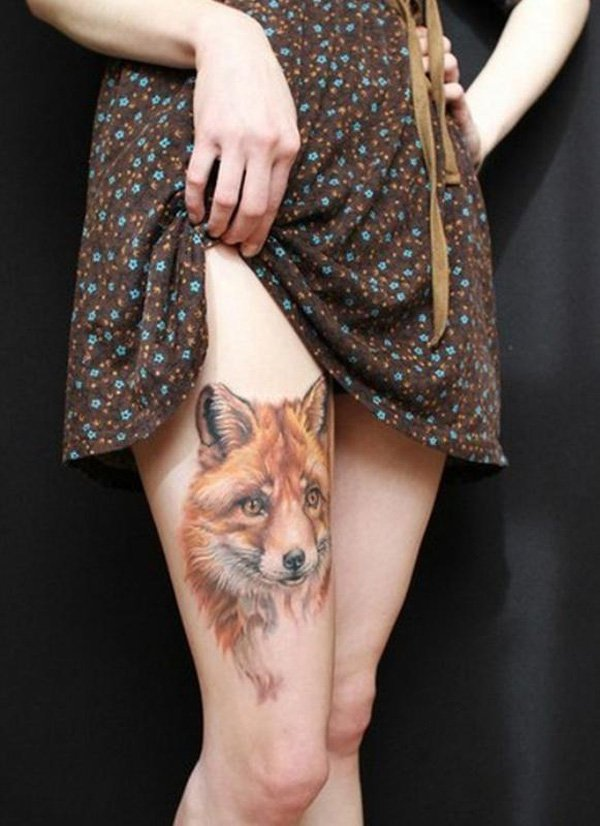 Thigh Tattoos for Women.40