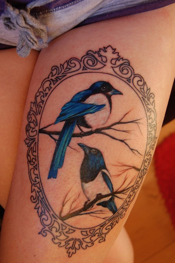 Thigh Tattoos for Women.42