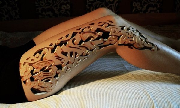 Thigh Tattoos for Women.45