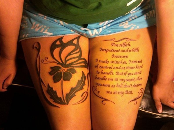 Thigh Tattoos for Women.52