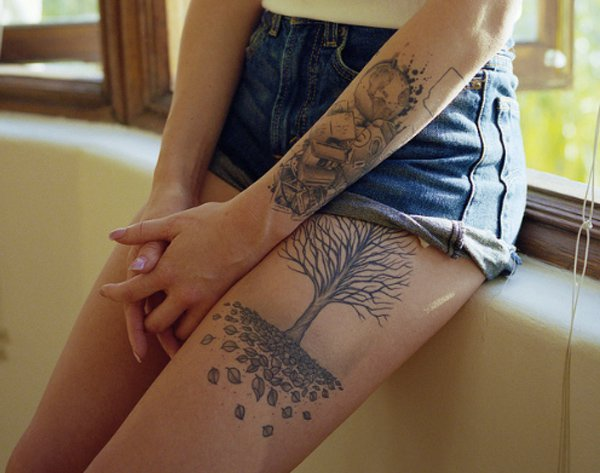 Thigh Tattoos for Women.53