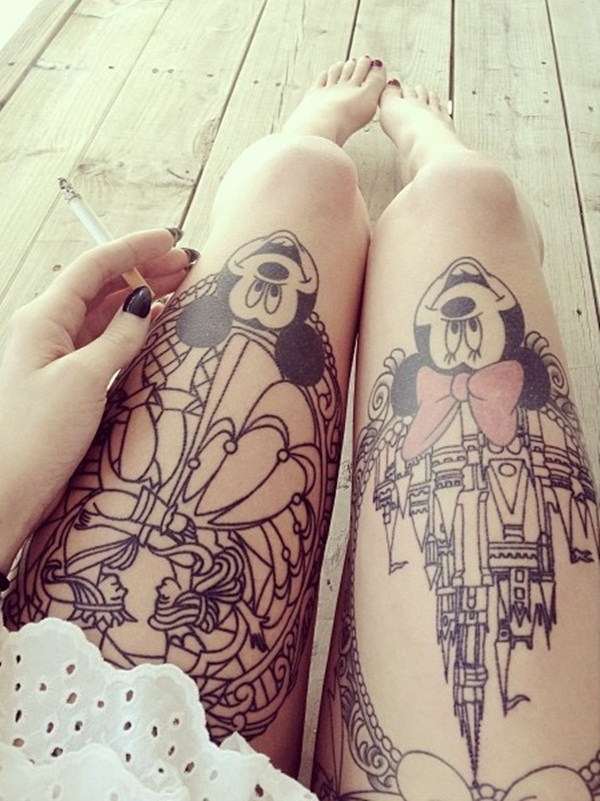 Thigh Tattoos for Women.58