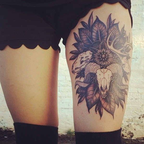 Thigh Tattoos for Women.59