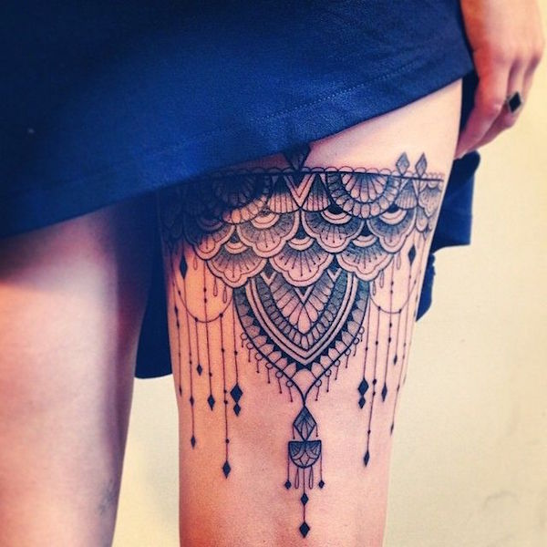 Thigh Tattoos for Women.7