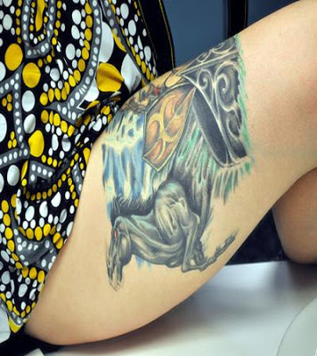 Thigh Tattoos for Women.83