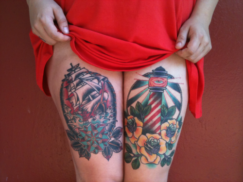 Thigh Tattoos for Women.92