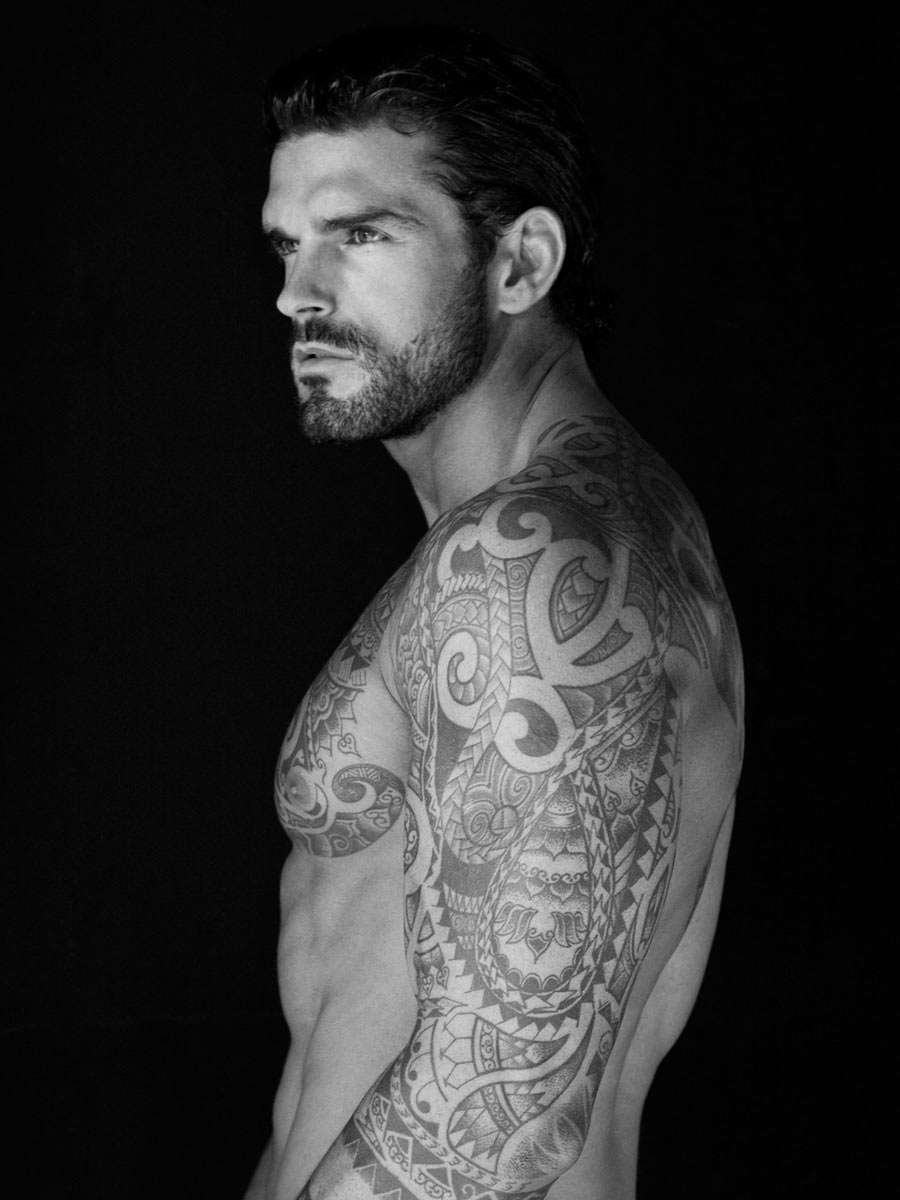 75 black and white tattoos for men masculine ink designs -  Mermaid Tattoo Designs 39