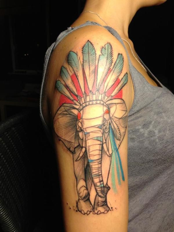 Elephant tattoos-21