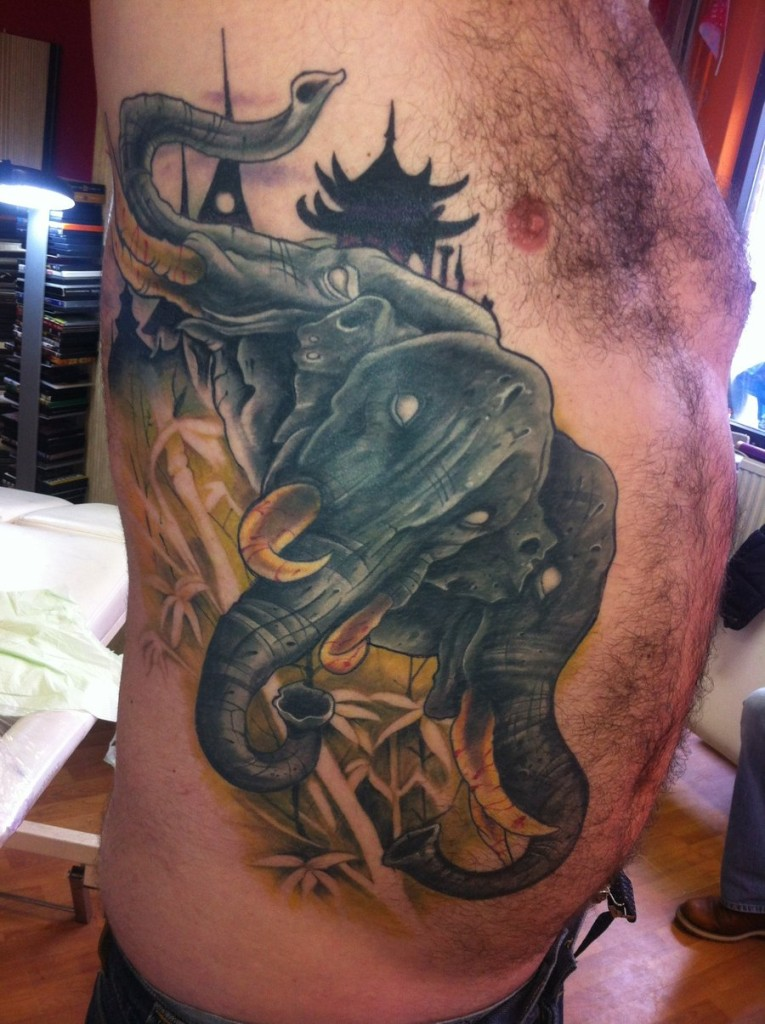 Elephant tattoos-61