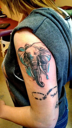 Elephant tattoos-70