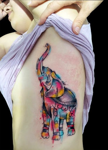 Elephant tattoos-73