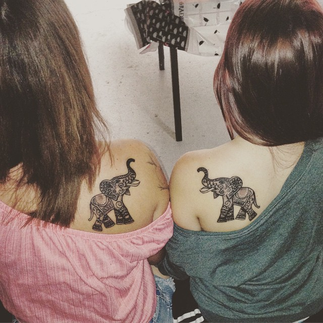 Elephant tattoos-84